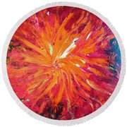 Lava Round Beach Towel