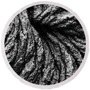 Lava Patterns - Bw Round Beach Towel