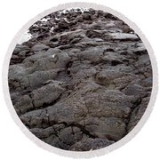 Lava Rock Island Round Beach Towel