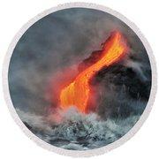 Lava Torrent Round Beach Towel