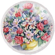 Lavendar And Lace Round Beach Towel