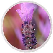 Lavendar Flower Round Beach Towel