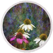 Lavender And Cones 1636 Idp_2 Round Beach Towel