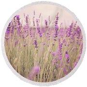 Lavender Blossom Round Beach Towel