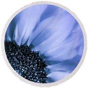 Lavender Blue Silk Round Beach Towel