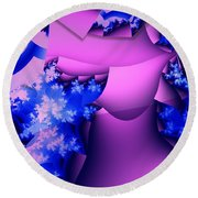 Lavender Cups Round Beach Towel