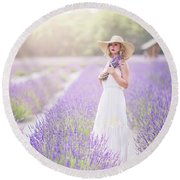 Lavender Dreams Round Beach Towel