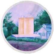 Lavender Farm Albuquerque Round Beach Towel