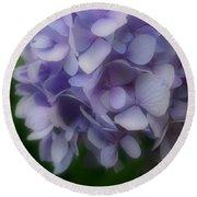 Lavender Hydrangea Round Beach Towel