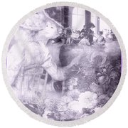 Lavender Ladies Round Beach Towel