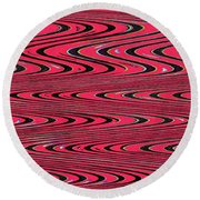 Lavender Metal Panel Abstract Round Beach Towel