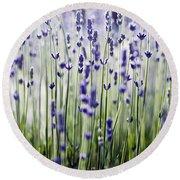 Lavender Patterns Round Beach Towel
