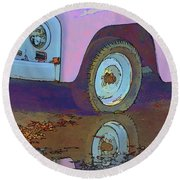 Lavender Reflections Round Beach Towel