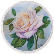 Lavender Rose Round Beach Towel