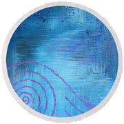 Lavender Spiral  Round Beach Towel