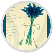 Lavender Tied With A Bow Round Beach Towel