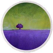 Lavender Valley Round Beach Towel