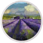 Lavenders Of South Round Beach Towel