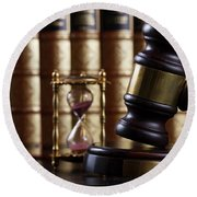 Law And Justice  Round Beach Towel
