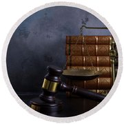 Law And Justice II Round Beach Towel