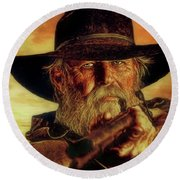 Lawman Round Beach Towel
