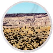 Layered Land Round Beach Towel