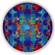 Layers Of Color 3 Round Beach Towel