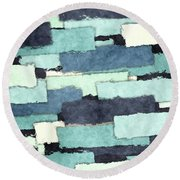 Layers Of Colors Pattern Round Beach Towel