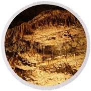 Layers Of Time - Cave Round Beach Towel