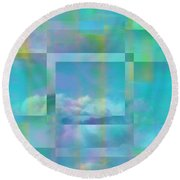 Lazy Days Pastel Squared Round Beach Towel