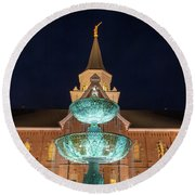 Lds Provo City Center Temple 2 Round Beach Towel
