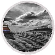 Le Camion Rouge Round Beach Towel