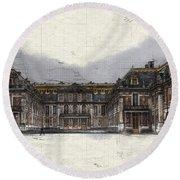 Le Chateau De Versailles Round Beach Towel