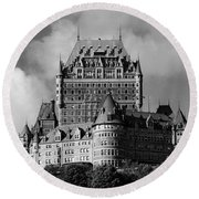 Le Chateau Frontenac - Quebec City Round Beach Towel