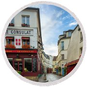 Le Consulat Round Beach Towel by Inge Johnsson