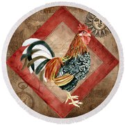 Le Coq - Greet The Day Round Beach Towel