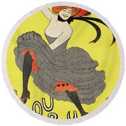 Le Frou Frou Vintage Poster By Leonetto Cappiello, 1899 Round Beach Towel
