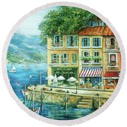 Le Port Round Beach Towel