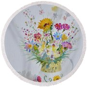 Le Printemps Dans La Maison Round Beach Towel