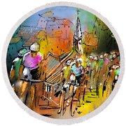 Le Tour De France 04 Round Beach Towel