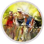Le Tour De France 07 Round Beach Towel