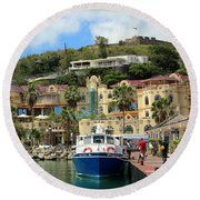 Le West Indies Mall In St. Martin  Round Beach Towel