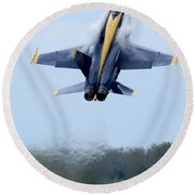 Lead Solo Pilot Of The Blue Angels Round Beach Towel by Stocktrek Images