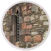 Leaded Nunnery Window Round Beach Towel