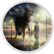 Leader Of The Pack Round Beach Towel