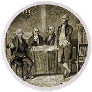Leaders Of The First Continental Congress Round Beach Towel