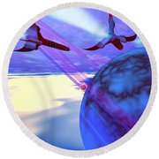 Leading Edge Round Beach Towel by Corey Ford