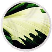 Leaf Abstract 7 Round Beach Towel