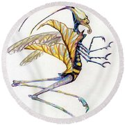 Leaf Hopper Round Beach Towel