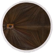 Leaf It Be Round Beach Towel